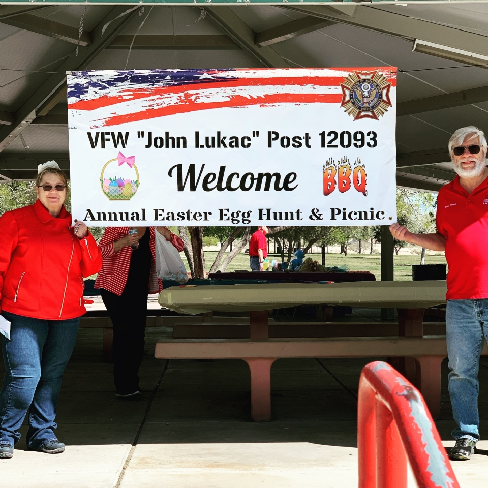 Post 12093 Easter Picnic for Creach AFB Families - April 2019