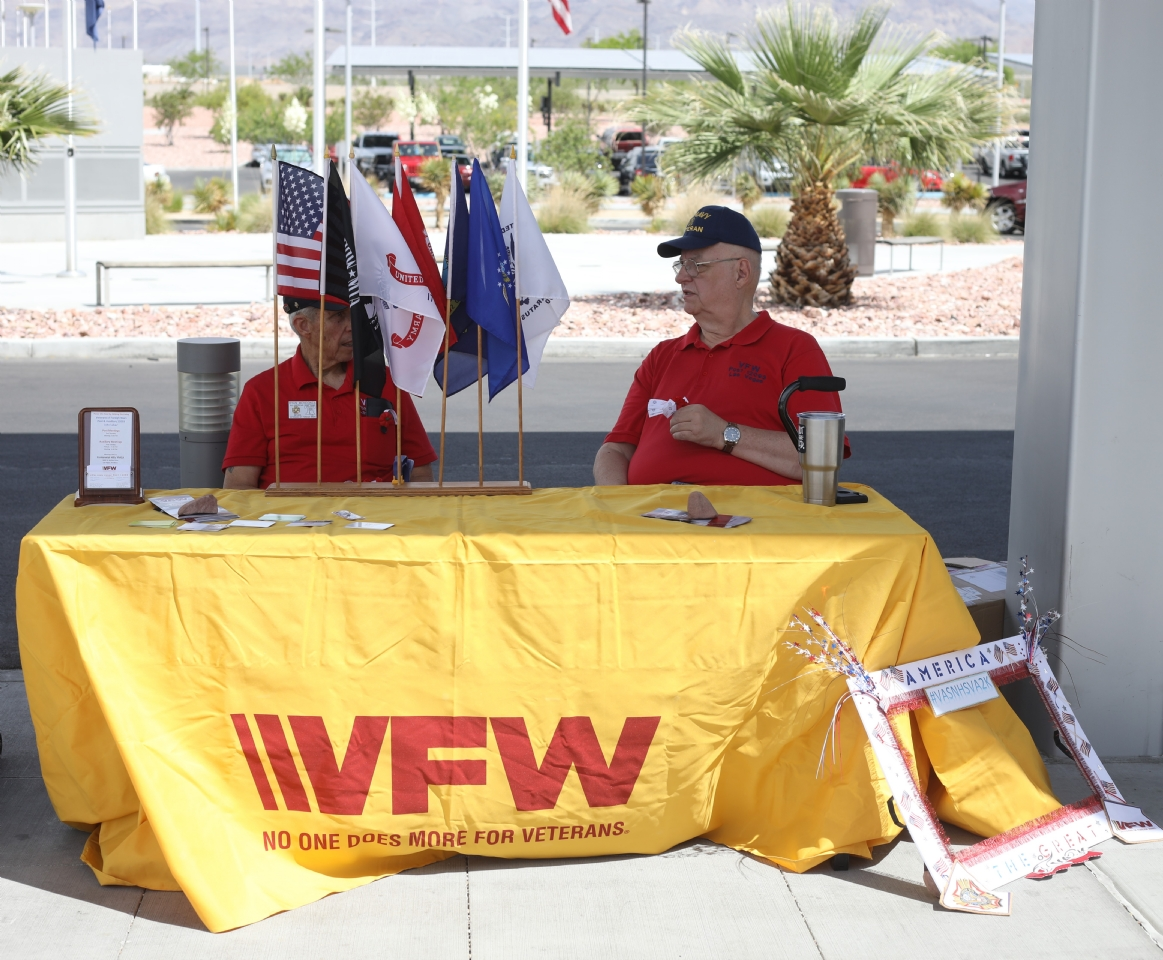 Post 12093 at the VA2K Walk with a Membership and Buddy Poppy Table.