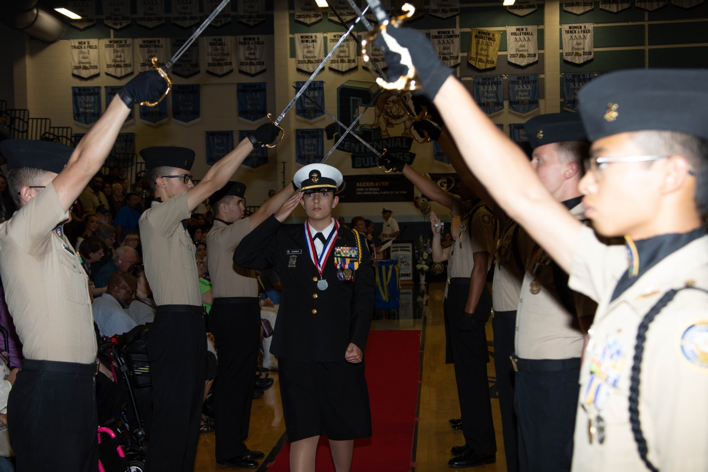 Post 12093 at the Centennial HS JROTC Cadet of the Year Ceremony.