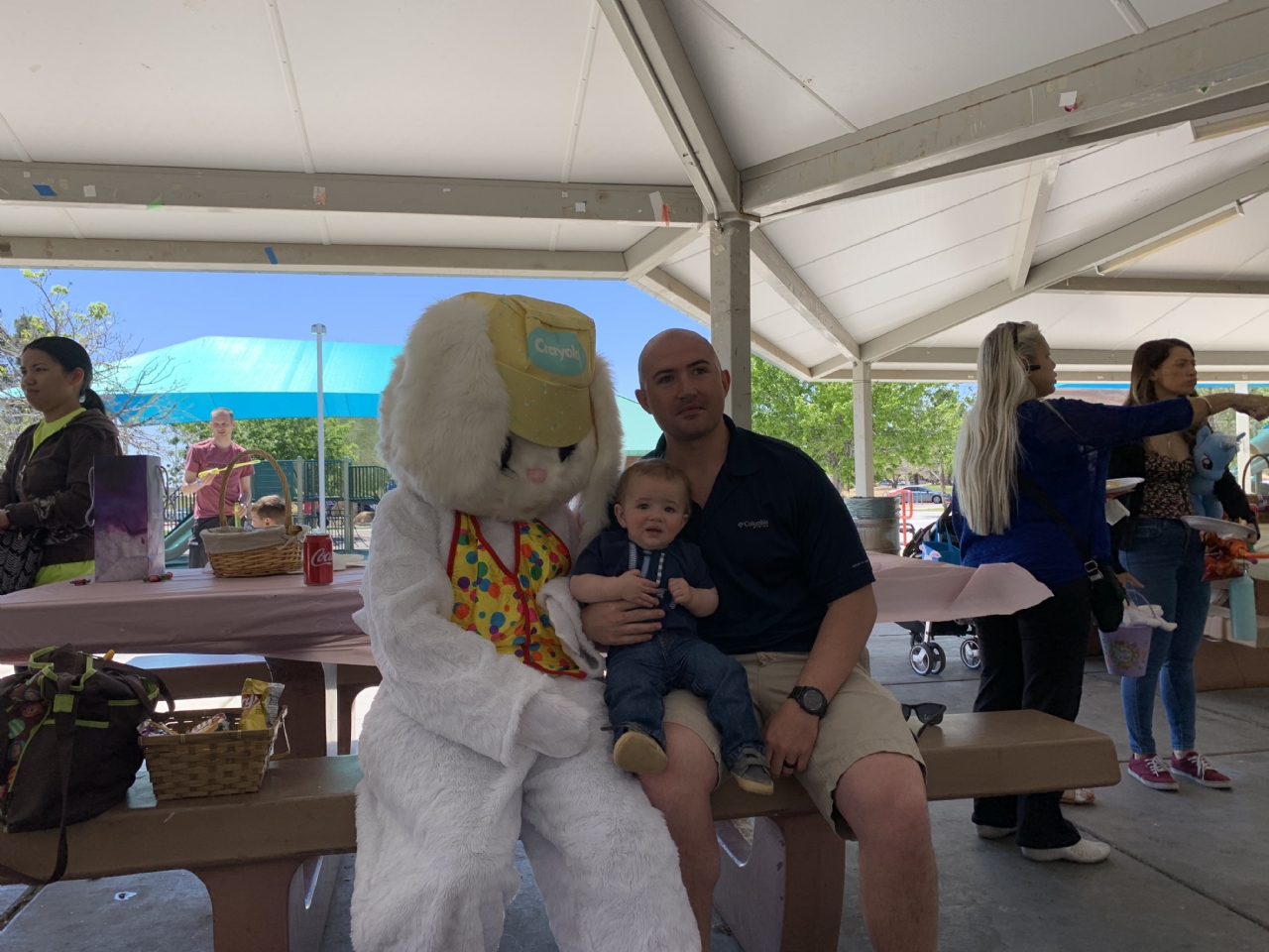 Post 12093 Easter Event for Creach AFB Families - April 2019