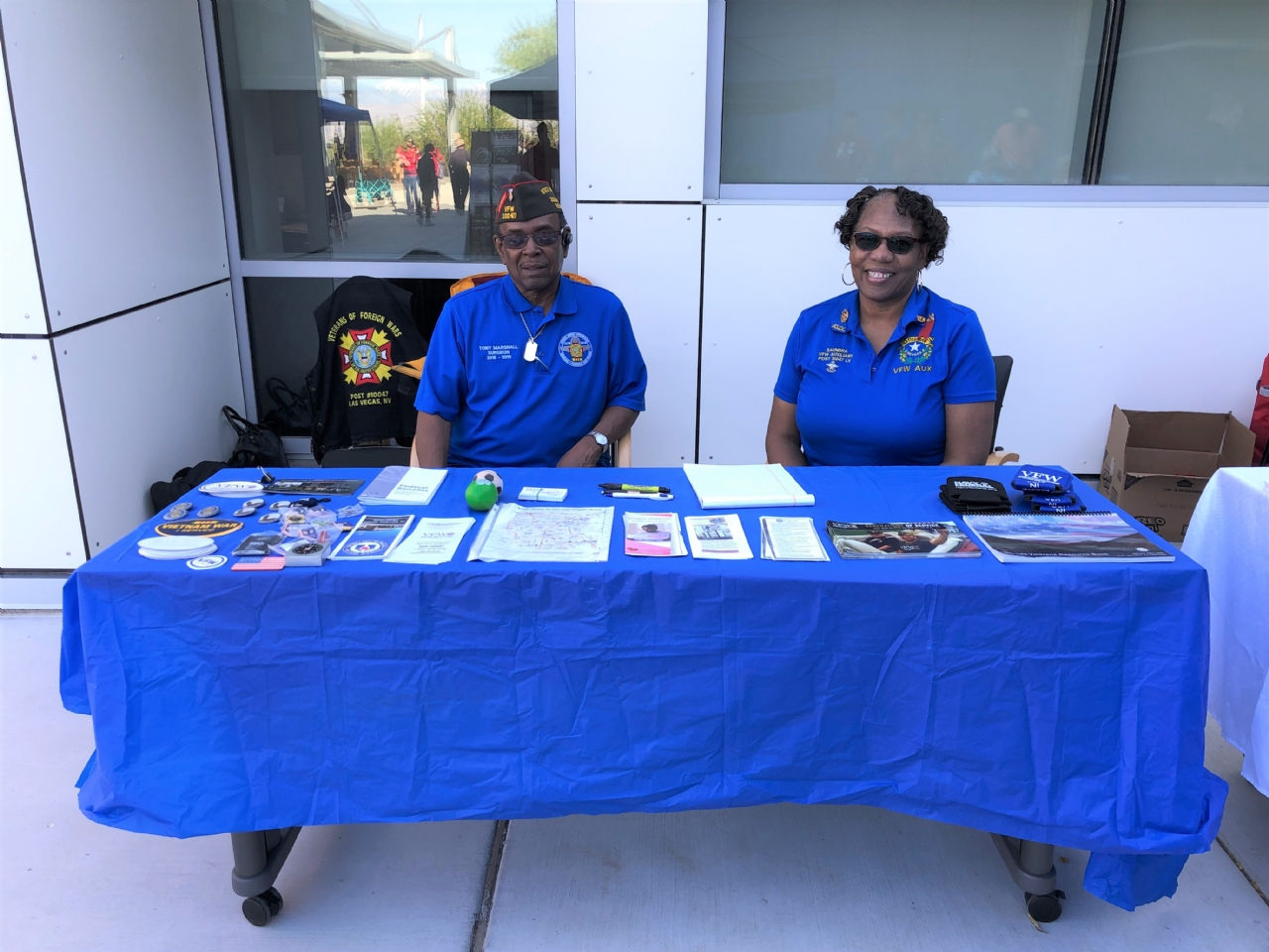 Department Representatives at the VA MayFair and wellness event