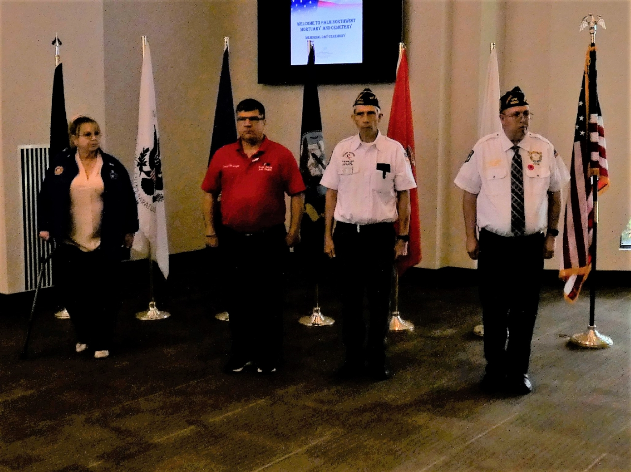 Post 12093 at the annual Memorial Day ceremony at Palm Mortuary North.